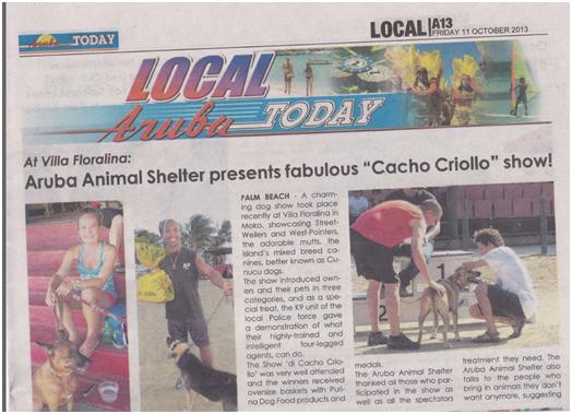 Dog show aruba 2013